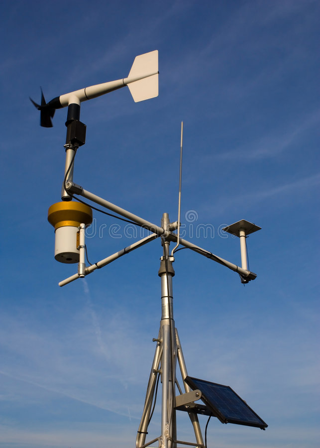 Weather instruments stock image