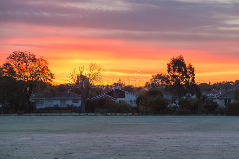 Weather in Kent: Sunrise in Whitstable stock photography