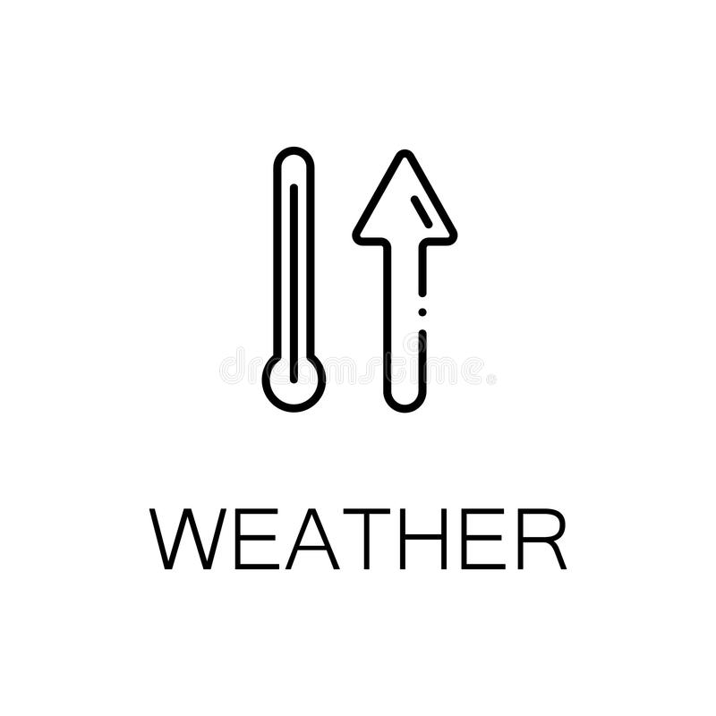 Weather line icon. Weather icon. Single high quality outline symbol for web design or mobile app. Thin line sign for design logo. Black outline pictogram on vector illustration
