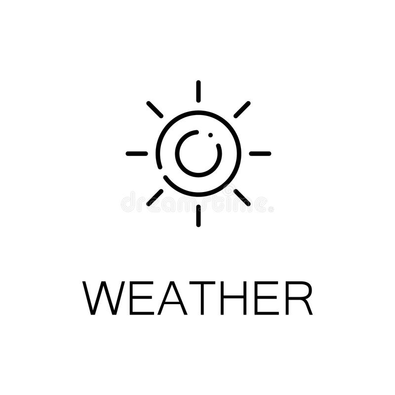 Weather line icon. Weather icon. Single high quality outline symbol for web design or mobile app. Thin line sign for design logo. Black outline pictogram on stock illustration