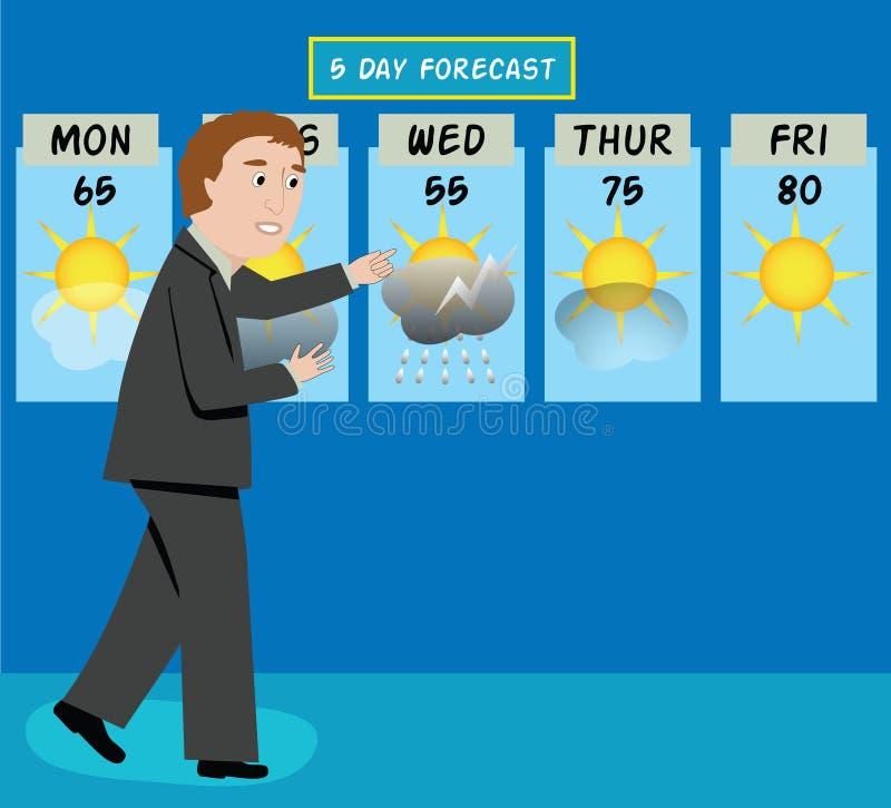 Weather Man stock vector. Image of sunny, weatherman ...