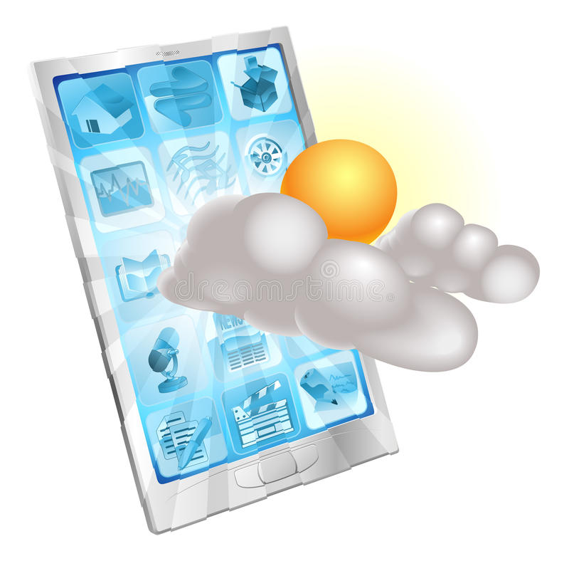 Download Weather Mobile Phone Application Concept Stock Vector - Image: 23636593