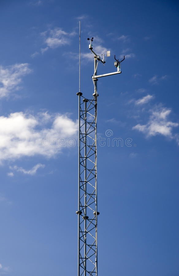 Weather monitoring tower stock images