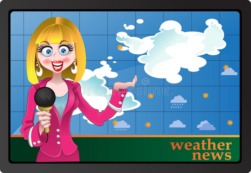 Download Weather news stock vector. Image of communication, presenter - 10351761