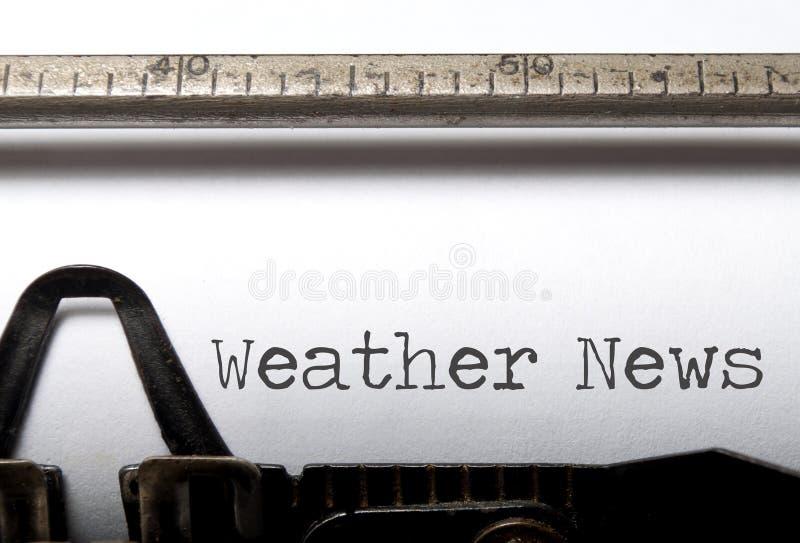 Weather news stock photo