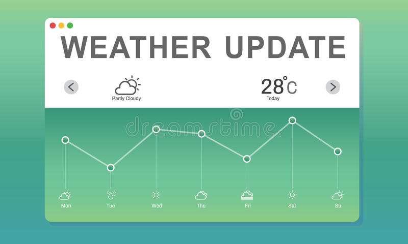Weather Report Data Meteorology Concept royalty free illustration