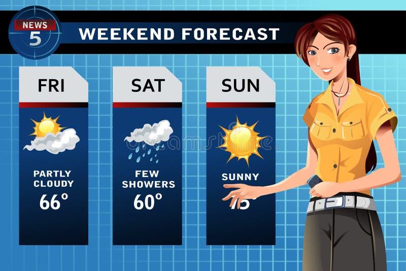 Weather reporter vector illustration