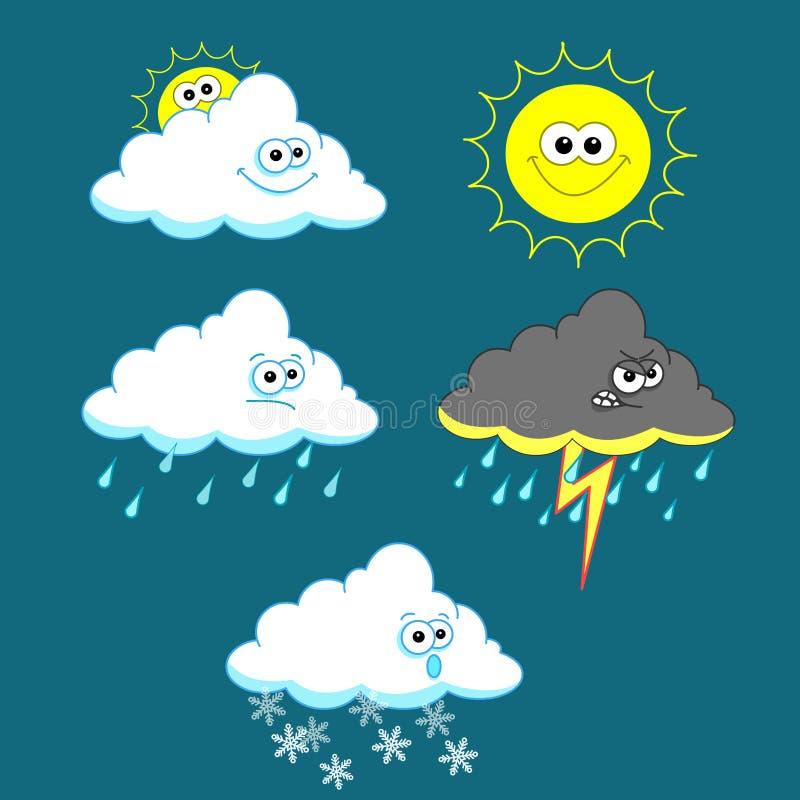 Weather Set Stock Photography