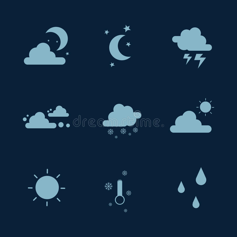 Weather set icon collection stock vector illustration