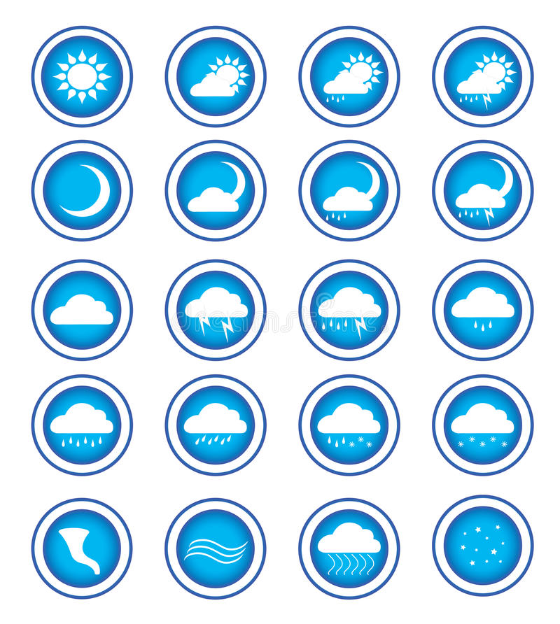 Weather Signs Stock Images