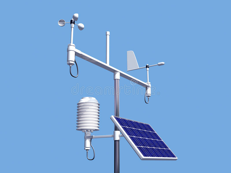 Download Weather station stock illustration. Image of predict - 19834048