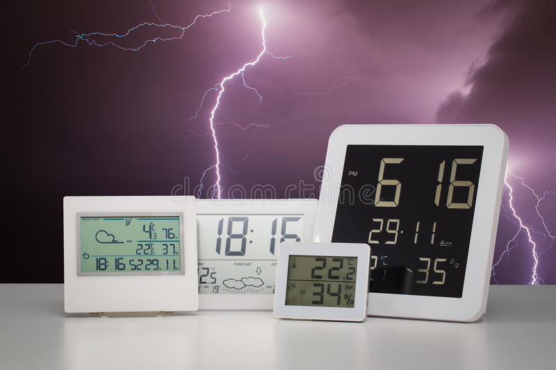 Weather station device. royalty free stock photography