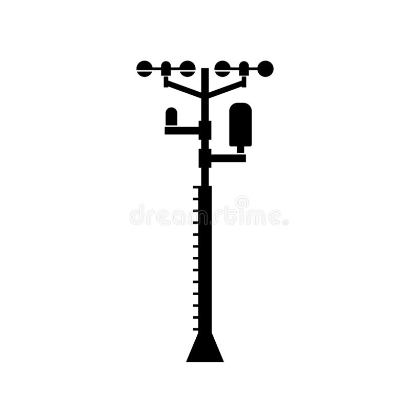 Weather station facility. Available in high-resolution and several sizes to fit the needs of your project stock illustration