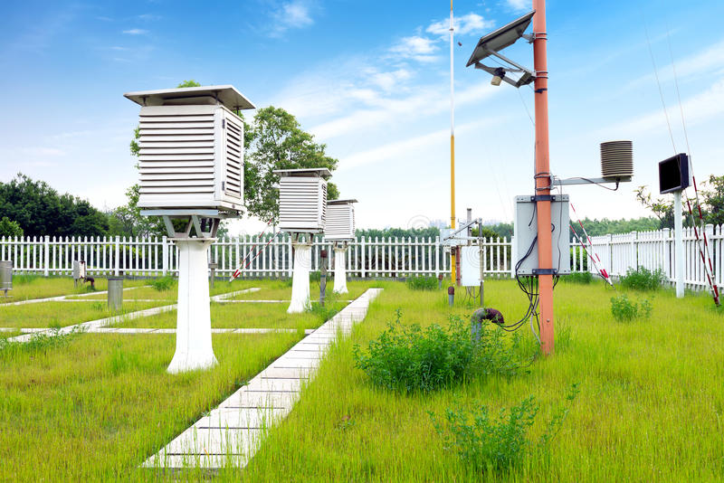 Weather station royalty free stock photography