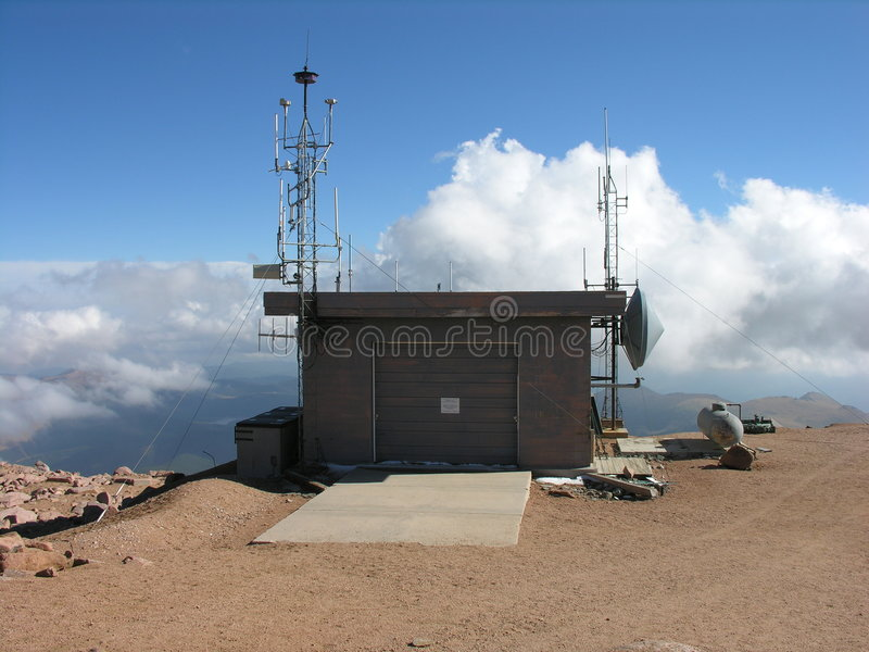 Download A Weather Station On Pikes Peak. Stock Image - Image: 1701187