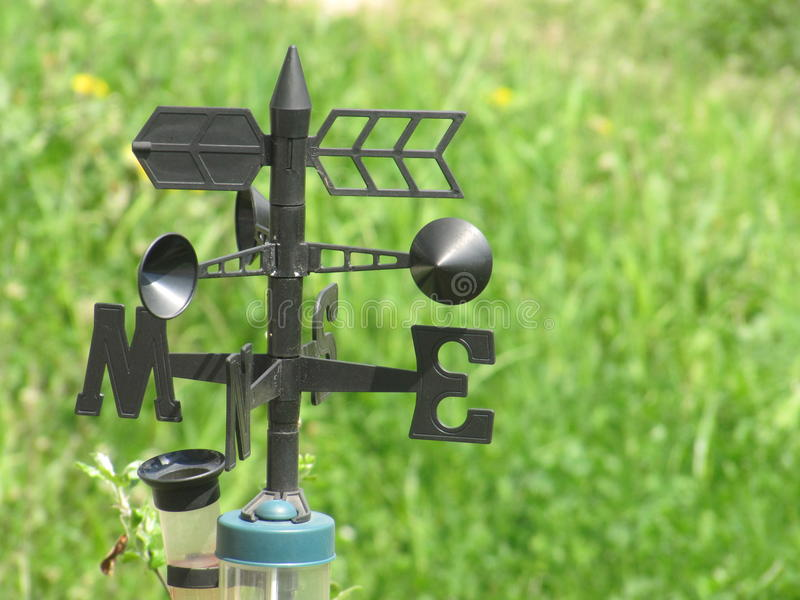 Weather station - wind meter. Close royalty free stock photos