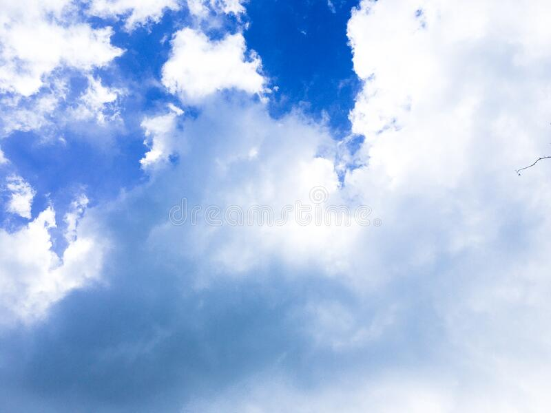 Weather summer and blue sky for background with copy space royalty free stock image