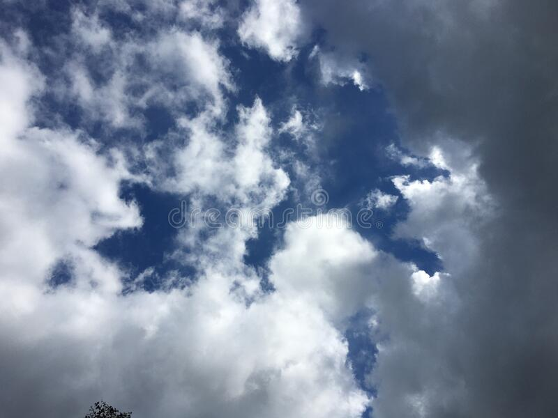 Weather summer and blue sky for background with copy space stock photography