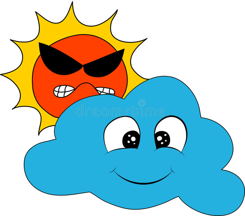 Weather Sun Cloud stock photos