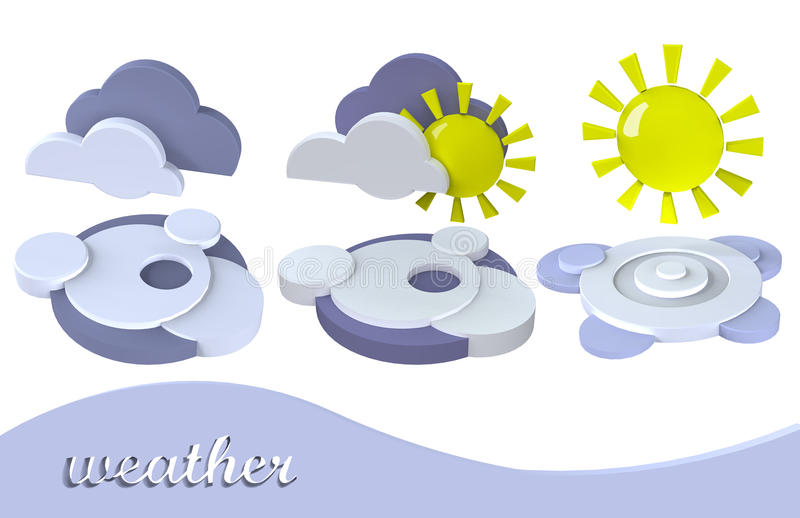 Download Weather symbol sun, cloud stock illustration. Image of house - 12236417
