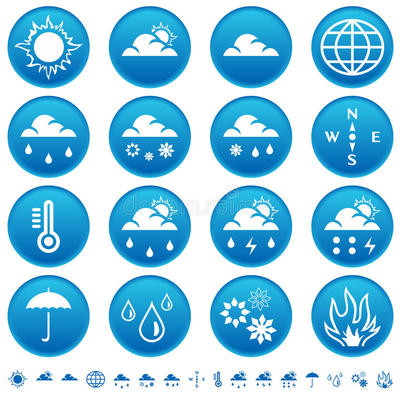 Weather Symbols Stock Photography