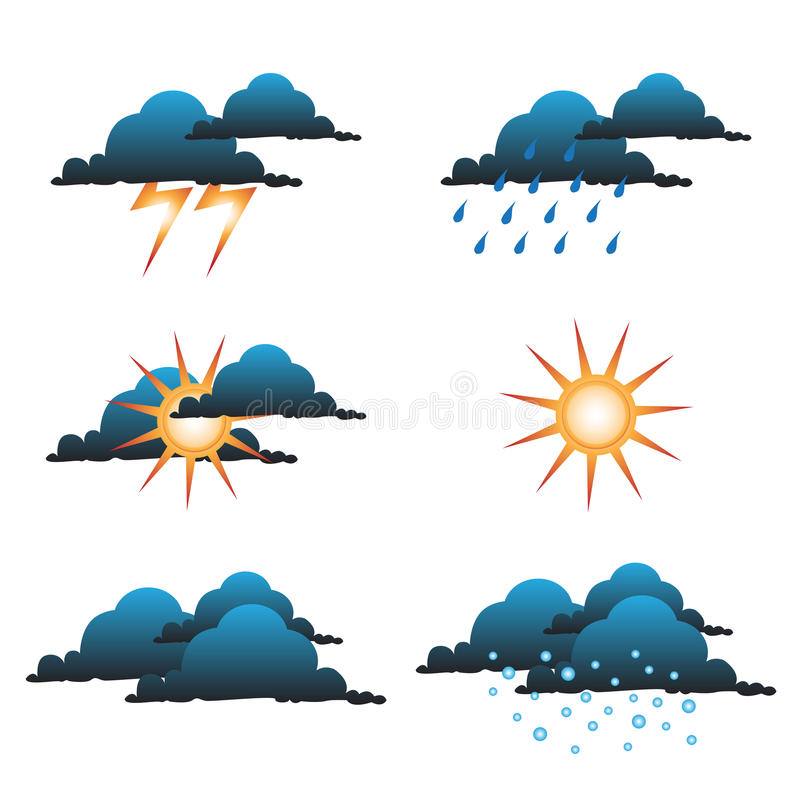 Weather symbols royalty free illustration