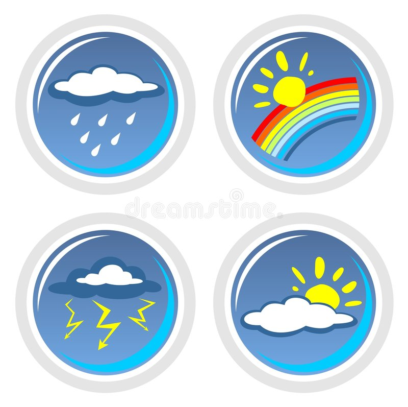 Free Weather Symbols Stock Photography - 5311952