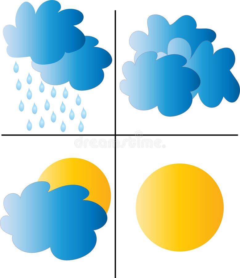Weather symbols royalty free stock photos