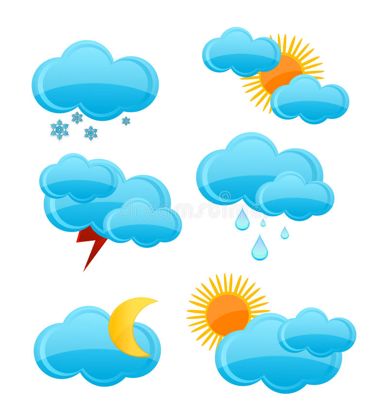 Free Weather Symbols Set Royalty Free Stock Image - 20435496