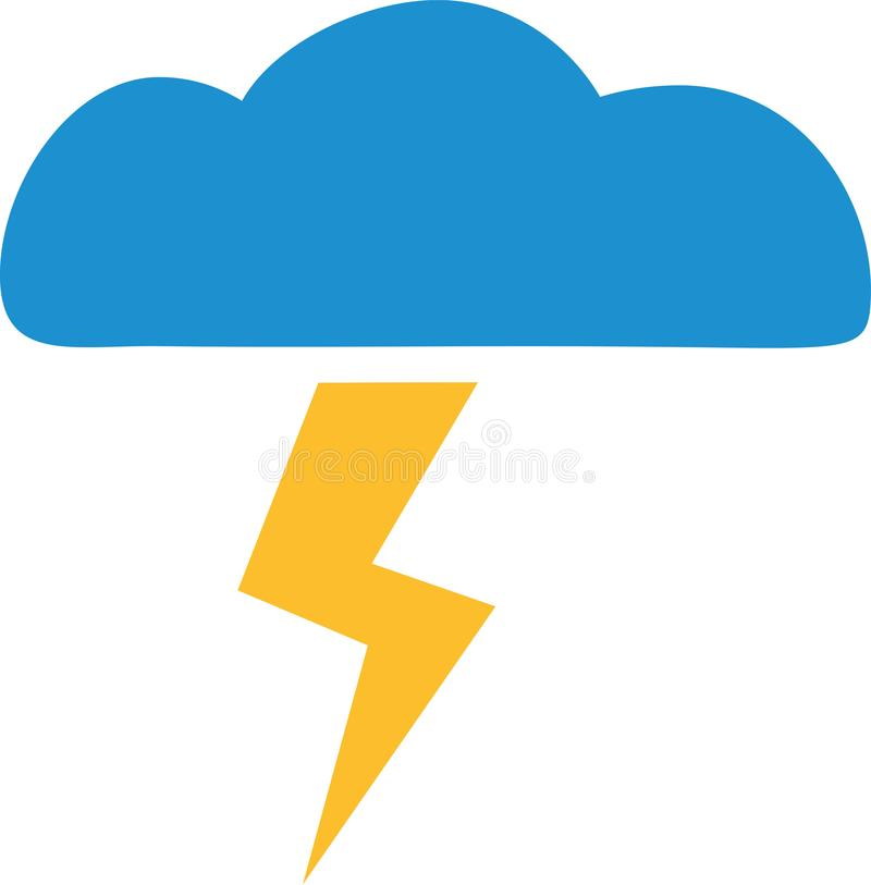 Weather thunderstorm forecast icon. Vector vector illustration
