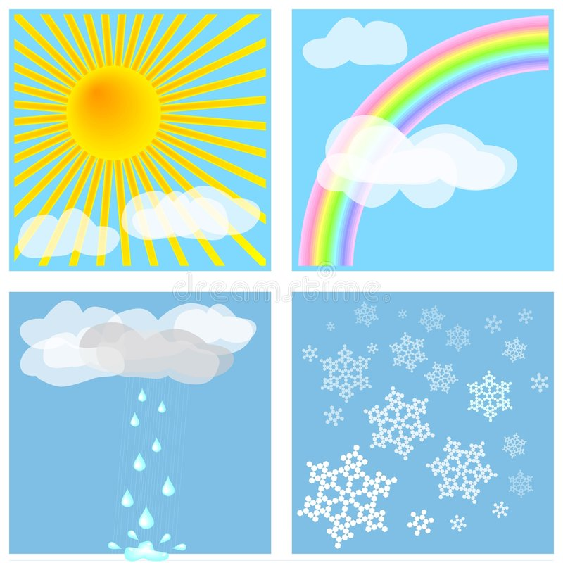 Weather Tiles #1 royalty free stock images