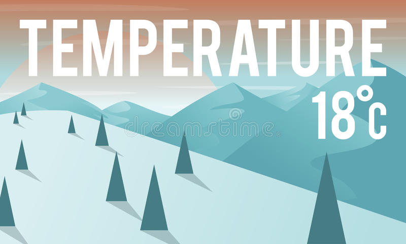 Weather Update Temperature Forecast News Meteorology Concept stock illustration