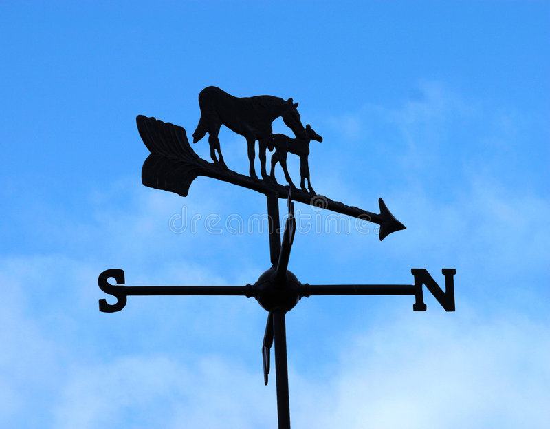 Download Weather vane stock photo. Image of meterology, silhouette - 117798
