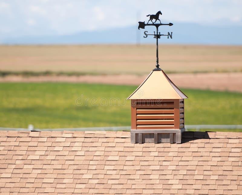Weather Vane on Roof Rural America. Weather Vane on a Roof Rural America royalty free stock photo
