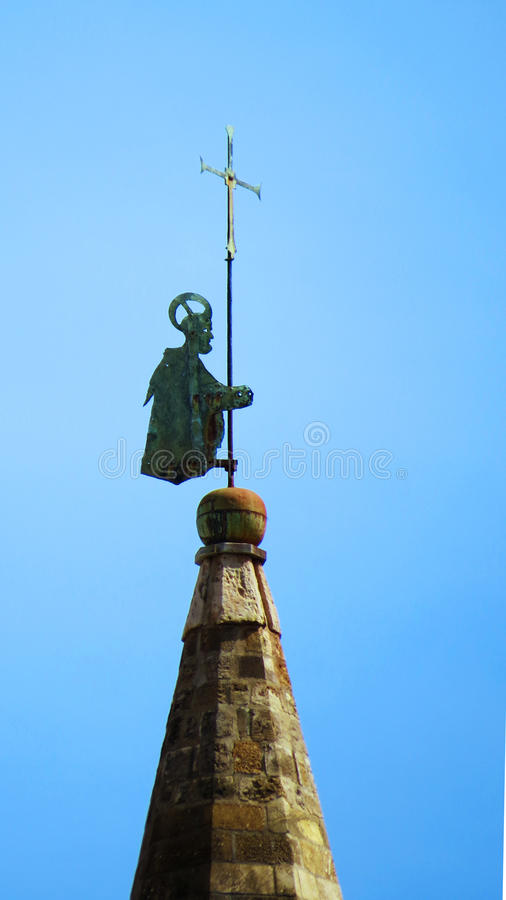 Weather vane on top of Palermo Cathedral royalty free stock photos