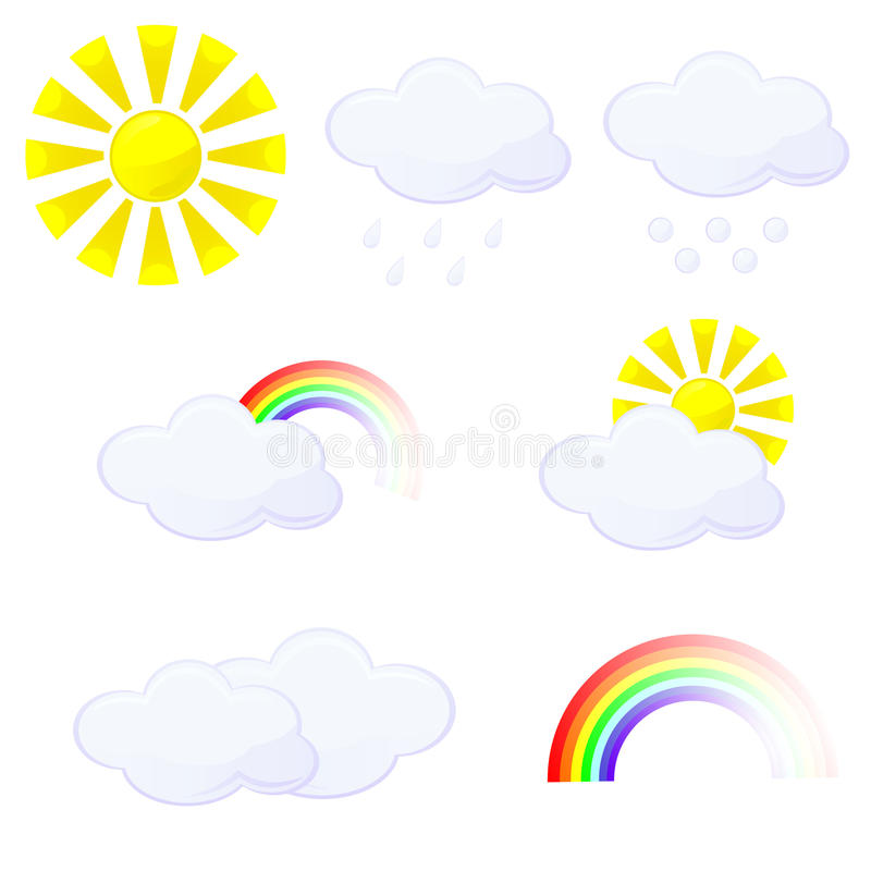 Download Weather stock vector. Image of rainbow, cloud, icon, cartoon - 31776954