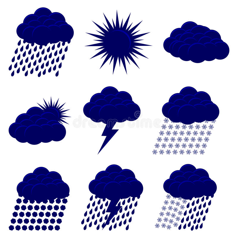 Download Weather Web  Icons Set Stock Photography - Image: 32590722