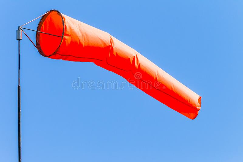 Weather Wind Cone Sock Blue Sky Flying stock photos