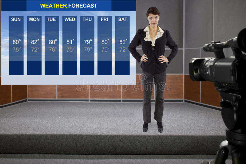 Weather Woman royalty free stock images