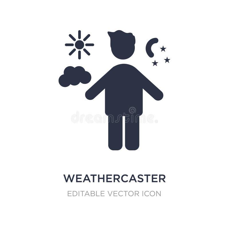 weathercaster ikona na białym tle Prosta element ilustracja od ludzi pojęć royalty ilustracja