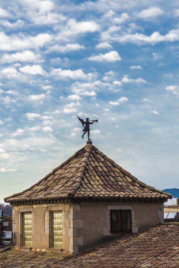 Weathercock в Хероне, Испании стоковая фотография