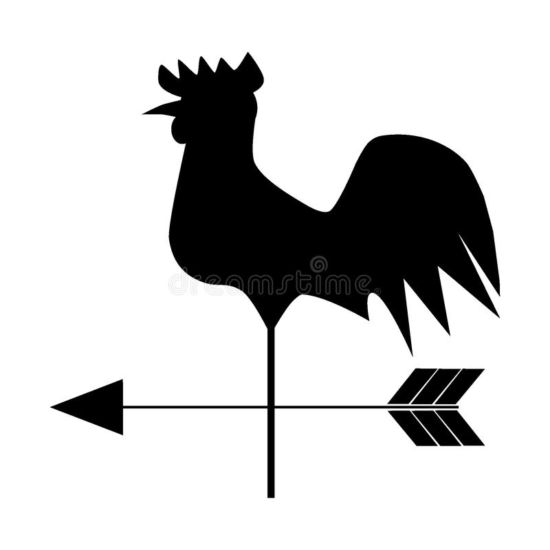 Download Weathercock stock vector. Illustration of decorative - 17091538