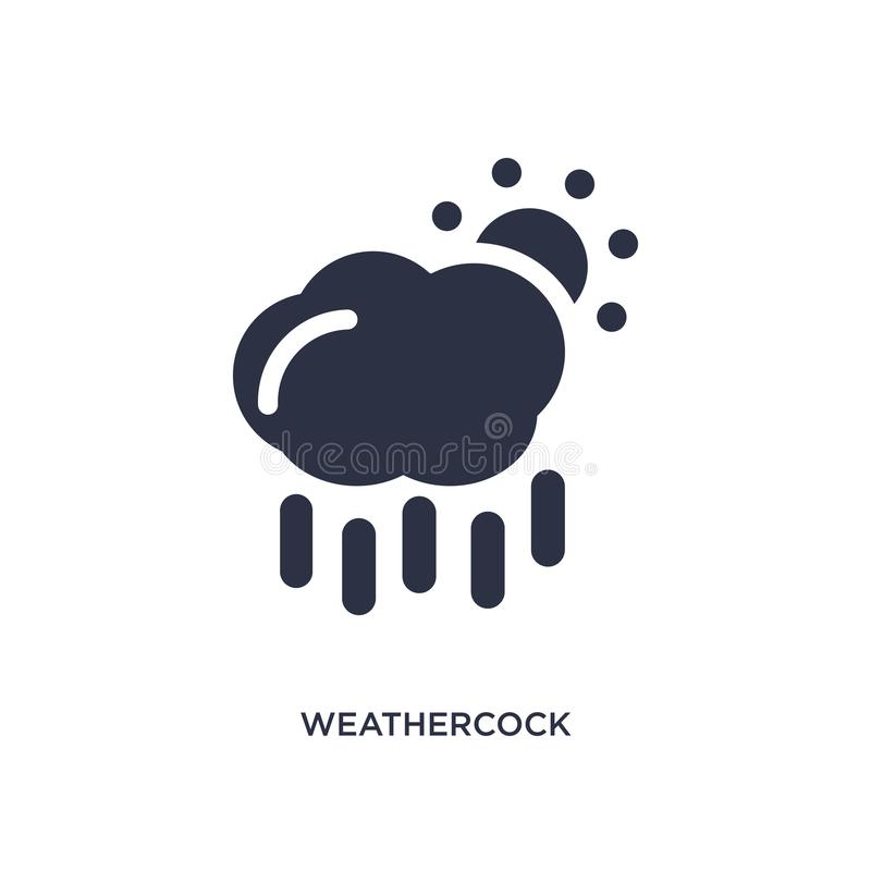 weathercock icon on white background. Simple element illustration from meteorology concept royalty free illustration