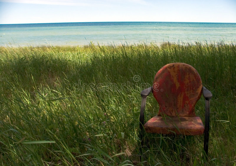 Download Weathered Beach Chair stock image. Image of erie, great - 28179