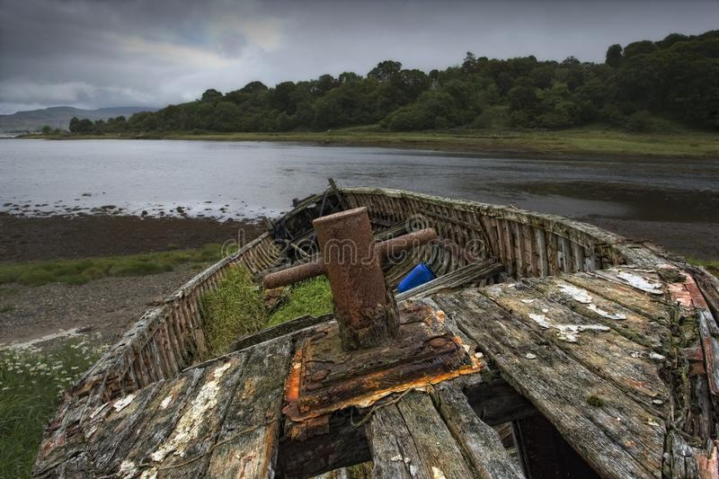Download Weathered Boat On Shore Royalty Free Stock Photography - Image: 15994887