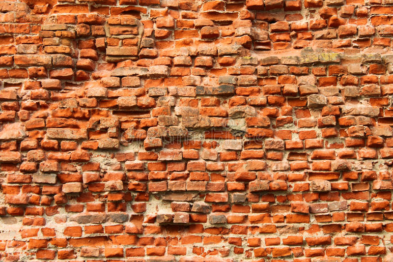 Download The weathered brick wall stock image. Image of aged, clay - 11574607