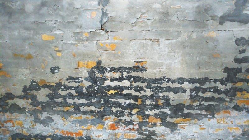 Weathered Brick Wall. Weathered Old Ruined Brick Wall Background stock image