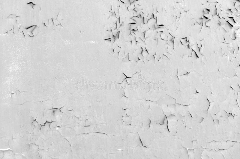Weathered cracked paint background. Grunge black and white texture template for overlay artwork stock images