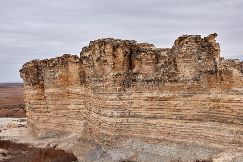 Weathered eroded limestone formations royalty free stock photos