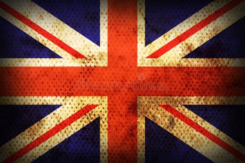 Weathered flag of United kingdom royalty free illustration